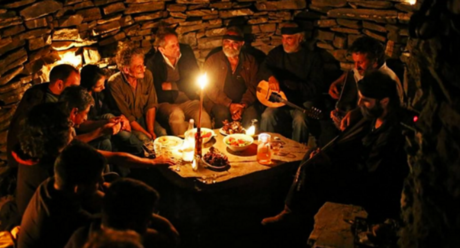 Dinner at the shepherd's hut